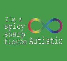 Spicy, Sharp, & Fierce Autism Baby Tee