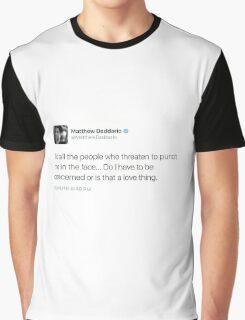 matt daddario tweet Graphic T-Shirt