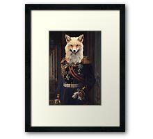 old fashioned fox Framed Print
