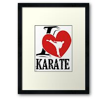 i love karate japanese martial art Framed Print