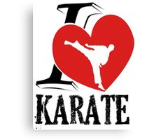 i love karate japanese martial art Canvas Print