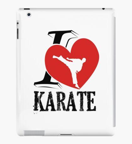 i love karate japanese martial art iPad Case/Skin