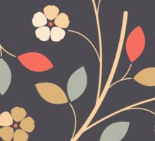 Decorative flowers and leaves Sticker