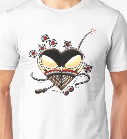 BLACK PANTIES on White Unisex T-Shirt