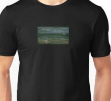 chalkboard ocean with sailboat, beach with starfish Unisex T-Shirt