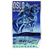 Oslo Norway Vintage Travel Poster Restored Poster