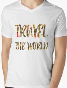 Travel the world Mens V-Neck T-Shirt