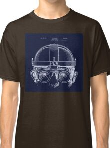 Vintage Welders Goggles blueprint detail drawing Classic T-Shirt
