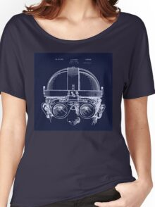 Vintage Welders Goggles blueprint detail drawing Women's Relaxed Fit T-Shirt