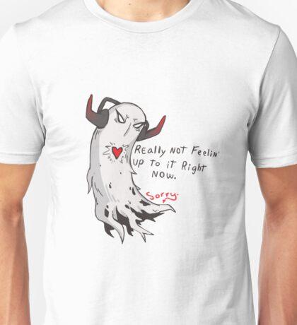 REALLY isn't feelin' it. Sorry. Unisex T-Shirt