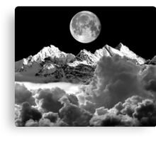 Cloud Mountain and Moon Canvas Print