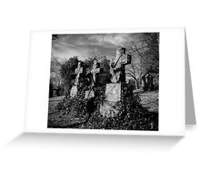 Headstones in Vines Greeting Card