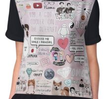 Dan and phil collage  Chiffon Top