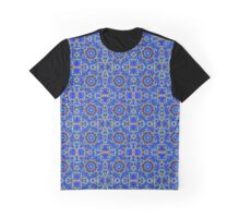 Seamless Blue Moon Mandala Graphic T-Shirt