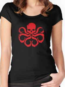 HYDRA Badge - Red Women's Fitted Scoop T-Shirt