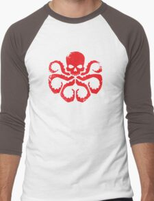 HYDRA Badge - Red Men's Baseball ¾ T-Shirt