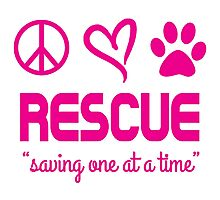 Rescue Saving One At A Time (pink) Photographic Print