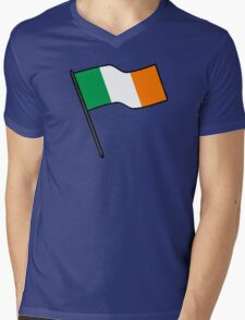Flag Of Ireland Stickers Mens V-Neck T-Shirt