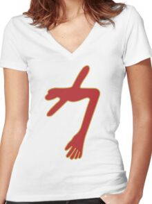 Swans - The Glowing Man Women's Fitted V-Neck T-Shirt