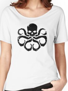 HYDRA Badge - Black Women's Relaxed Fit T-Shirt
