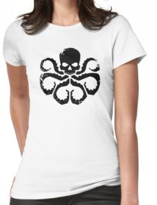 HYDRA Badge - Black Womens Fitted T-Shirt