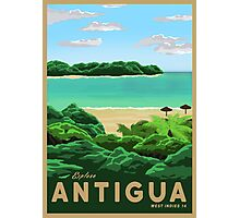 Travel Poster - antigua Photographic Print