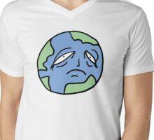 Sad world Mens V-Neck T-Shirt