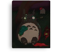 night of the living totoro Canvas Print