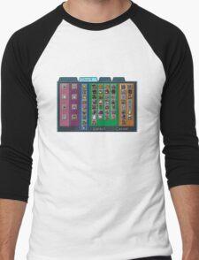 Digimon Chart Men's Baseball ¾ T-Shirt