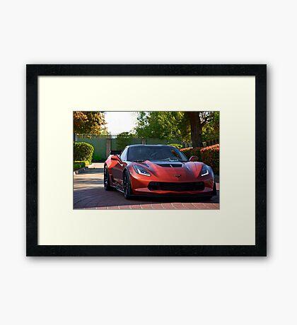 Corvette Stingray 'Shady Lady' Framed Print