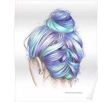 Coloured Hair Poster