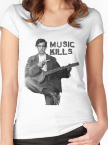 Music Kills Women's Fitted Scoop T-Shirt