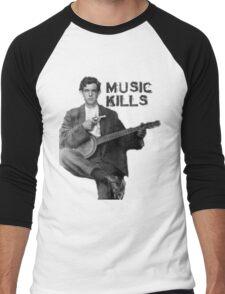 Music Kills Men's Baseball ¾ T-Shirt
