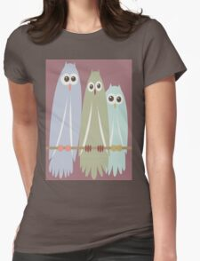 OWL TRIO Womens Fitted T-Shirt