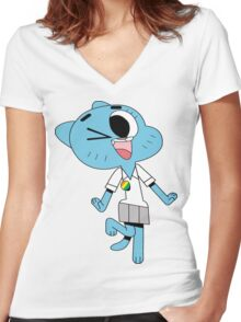 The amazing world of gumball 17 - nicole Women's Fitted V-Neck T-Shirt