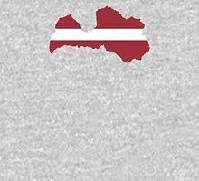 Flag Map of Latvia Unisex T-Shirt