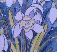 Snowdrops in the Snow Sticker