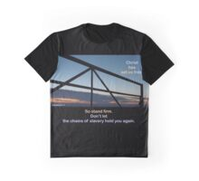 Galatians 5:1 'Christ has set us free...' The open gate Graphic T-Shirt