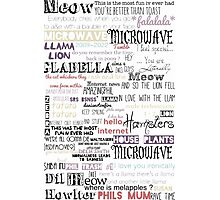 Dan and phil word collage  Photographic Print