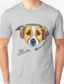 Dog Jack Russell Terrier as call center operator T-Shirt