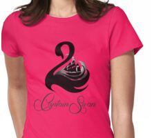 Captain Swan -Black Womens Fitted T-Shirt