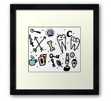 Witch supplies Framed Print