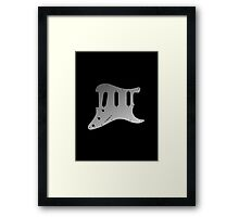 Strat Metal Pickguard Framed Print