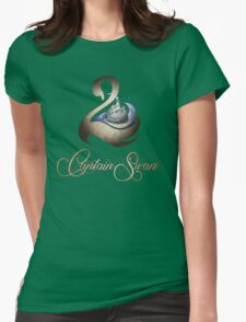 Captain Swan -Silver and Gold Womens Fitted T-Shirt