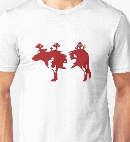 Mooooo..... Shrooooms... Unisex T-Shirt