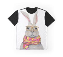 Hipster bunny - rabbit art, cute bunny painting Graphic T-Shirt
