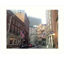 Streets of Downtown Providence  Art Print