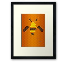 Pixel Bee Framed Print