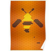 Pixel Bee Poster