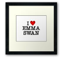 I love Emma Swan  Framed Print